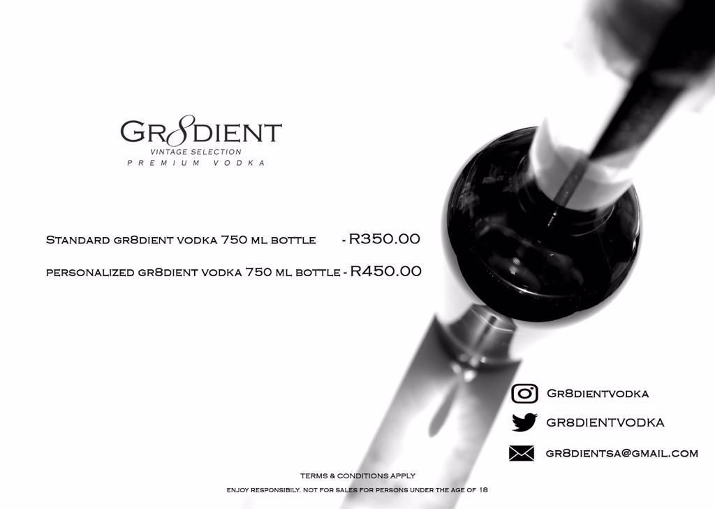 Pricing for Gr8dient Vodka